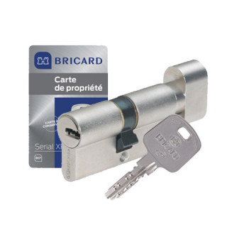 Cylindre à bouton Serial XP Bricard